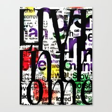 Abstract Text Canvas Print