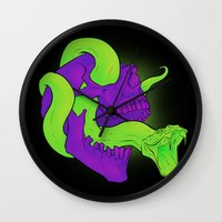 Neon Death Wall Clock