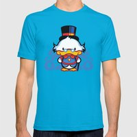 Hello Scroogie Mens Fitted Tee Teal SMALL