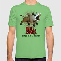 Bull Shark Version 2 Animal Series by RonkyTonk Mens Fitted Tee Grass SMALL
