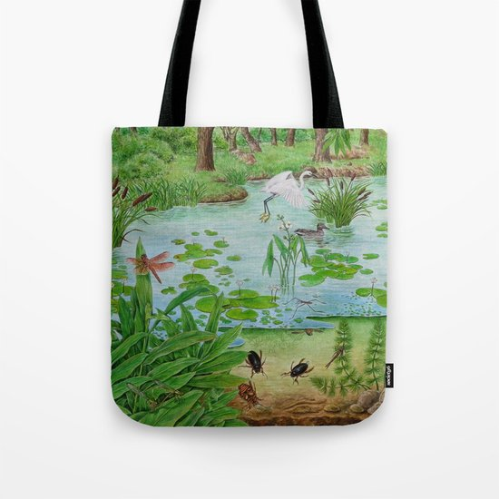 A Day of Forest (4). (the lake ecosystem) Tote Bag