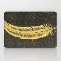 Yellow Feather iPad Case