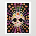 Mexican Candy Skull Art Print