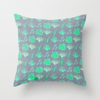 Sleep Your Leafy Greens Throw Pillow