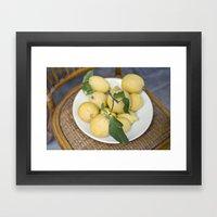 When Life Hands You Lemo… Framed Art Print