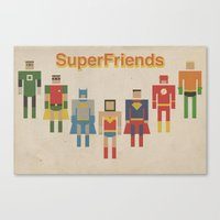Retro SuperFriends Canvas Print