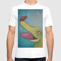 crocobird SMALL White Mens Fitted Tee