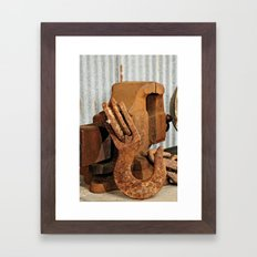 Hook and Vise Framed Art Print