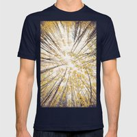 Fall Looking Up Mens Fitted Tee Navy SMALL