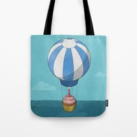 Flying Cupcake Tote Bag