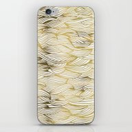 Golden Waves iPhone & iPod Skin