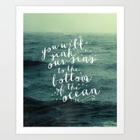 DEEPER THAN THE OCEAN Art Print