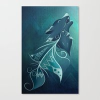 Wolfeather Canvas Print