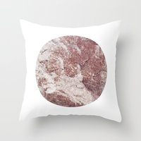 Planetary Bodies - Red R… Throw Pillow