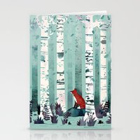 autumn Stationery Cards featuring The Birches by littleclyde