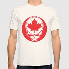 Canadian Steal Your Face (variation#4) Mens Fitted Tee Natural SMALL