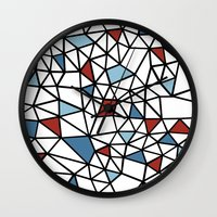 Segment Red and Blue Wall Clock