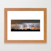 Monsoon Peach Framed Art Print
