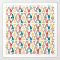 Hexagon Floral 3 Art Print