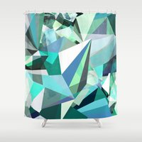 Colorflash 8 mint Shower Curtain
