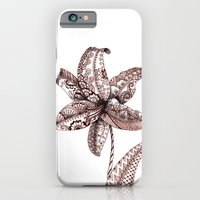 iPhone & iPod Case featuring Henna Lily by Elisa Camera