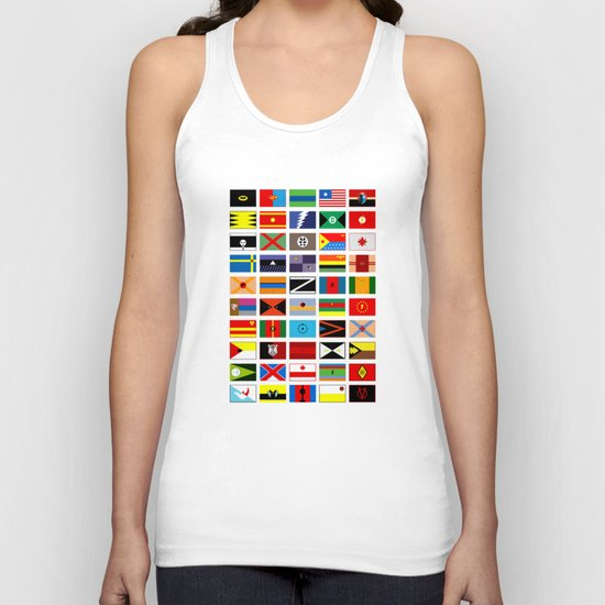 SH as flags Unisex Tank Top