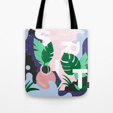 Ferns And Letters Tote Bag