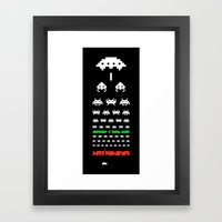 Eye Exam for Geeks Framed Art Print