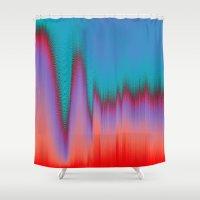 Glitch Stitch Shower Curtain