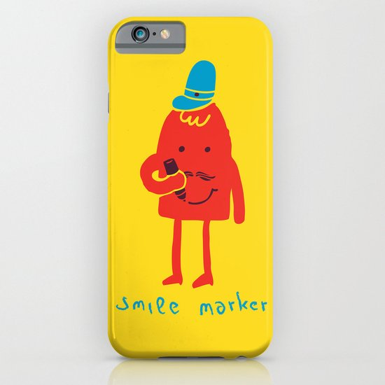 Smile marker iPhone & iPod Case