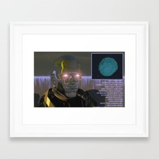<EXIT  BROWSER> Framed Art Print