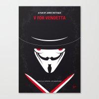 No319 My V for minimal movie poster Canvas Print