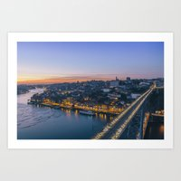 Porto From Serra Do Pila… Art Print