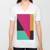 Red Triangle Unisex V-Neck