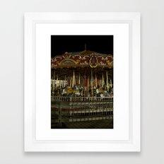 The Rides, The Carousel Framed Art Print