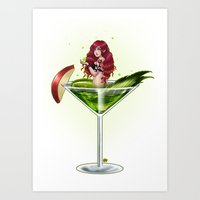 Poison Apple Martini Art Print