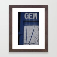 Gem Blue Framed Art Print