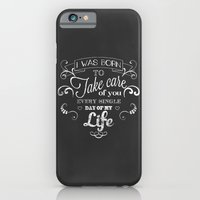 I was born to take care of you (chalk version) iPhone 6 Slim Case