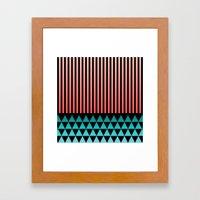 Peach/Teal Framed Art Print