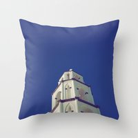 Santorini Churches III Throw Pillow