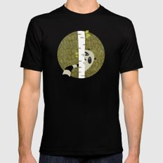 A shy raccoon Black SMALL Mens Fitted Tee
