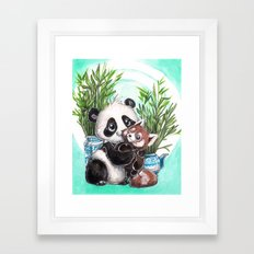 Panda red panda Framed Art Print