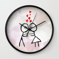 Kiss me ! Wall Clock