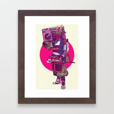 Hip-Hop Samurai Framed Art Print