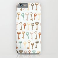 iPhone & iPod Case featuring keys pattern by flying bathtub