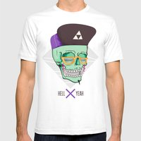 Hell Yeah Skull 3 Mens Fitted Tee White SMALL