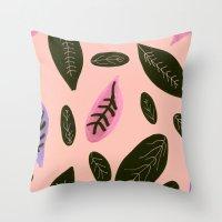 peachyleaf Throw Pillow