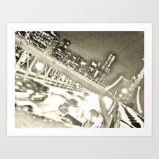 WHITEOUT : Drive Art Print