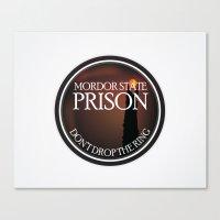 Mordor State Prison  Canvas Print
