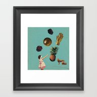 GOALS Framed Art Print